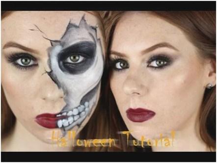 easy skull makeup tutorial Prettier Cracked Skull Halloween Makeup Tutorial