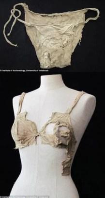 Fotos de calcinha e sutião medievais - considerados mais antigos