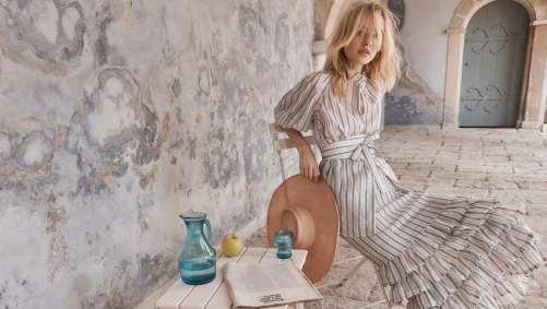 Modelo usando look da coleção Zimmermann Resort 2018