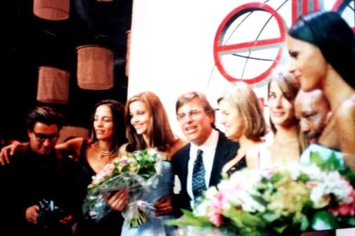 1996 - Com Casablancas e a finalista Ana Beatriz Barros em Nice FR - Final Elite Model Look