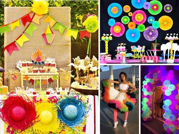 Foto de festas juninas com tons de neon