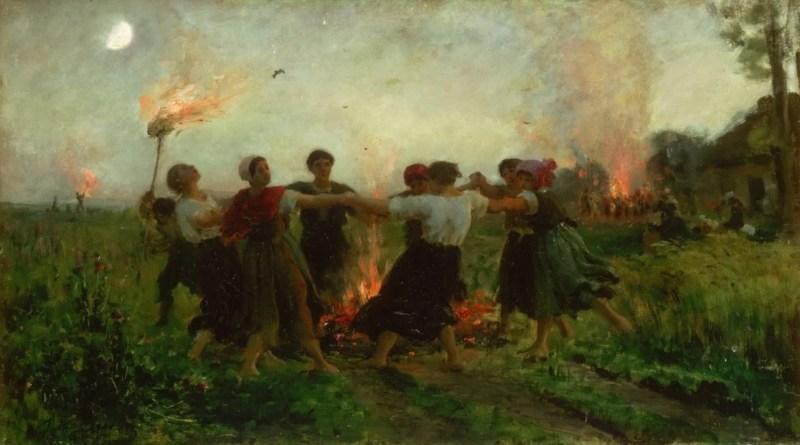 A Festa de São João de Jules Breton, 1875.