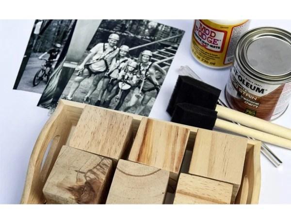 Dia dos pais - quebra-cabeça de madeira com foto