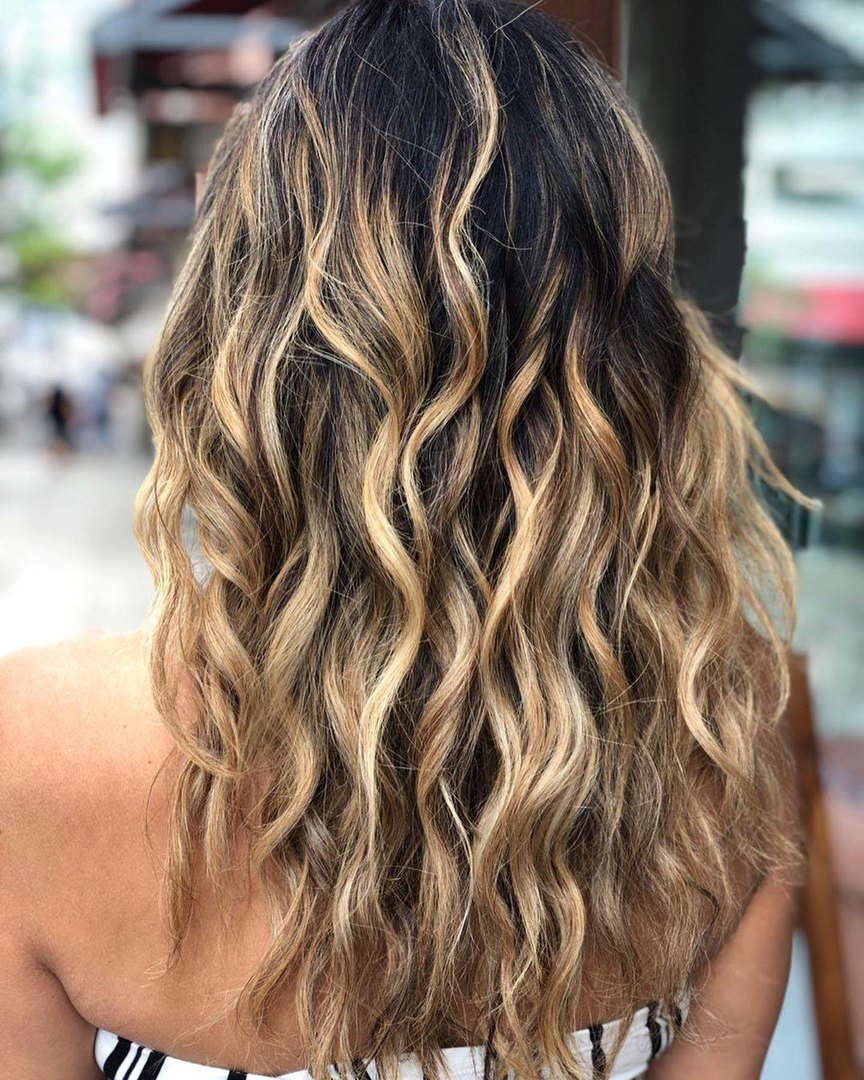 cabelos com ondas