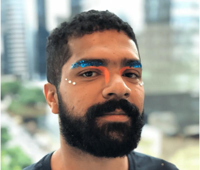Maquiagem masculina de carnaval