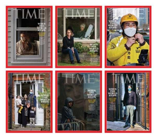 6 capas de revista Times durante a pandemia de covid-19