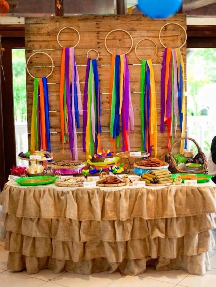 decoração para festas juninas com bastidor