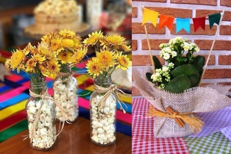 centro de mesa festa junina