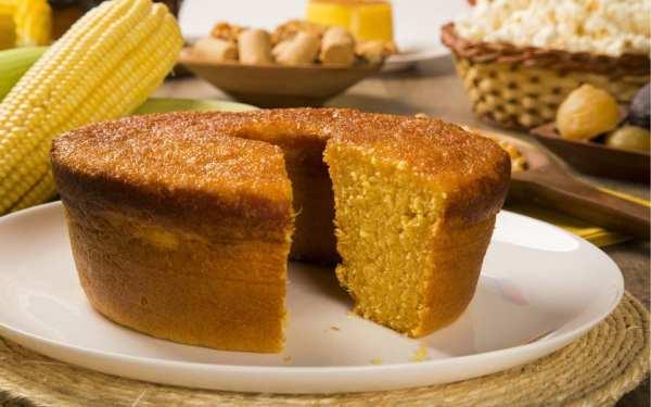 festa junina em casa - Foto de bolo de milho