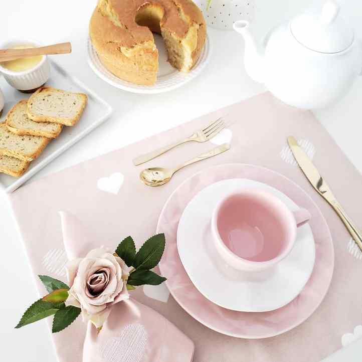 jantar romantico mesa posta 2 cafe da manha