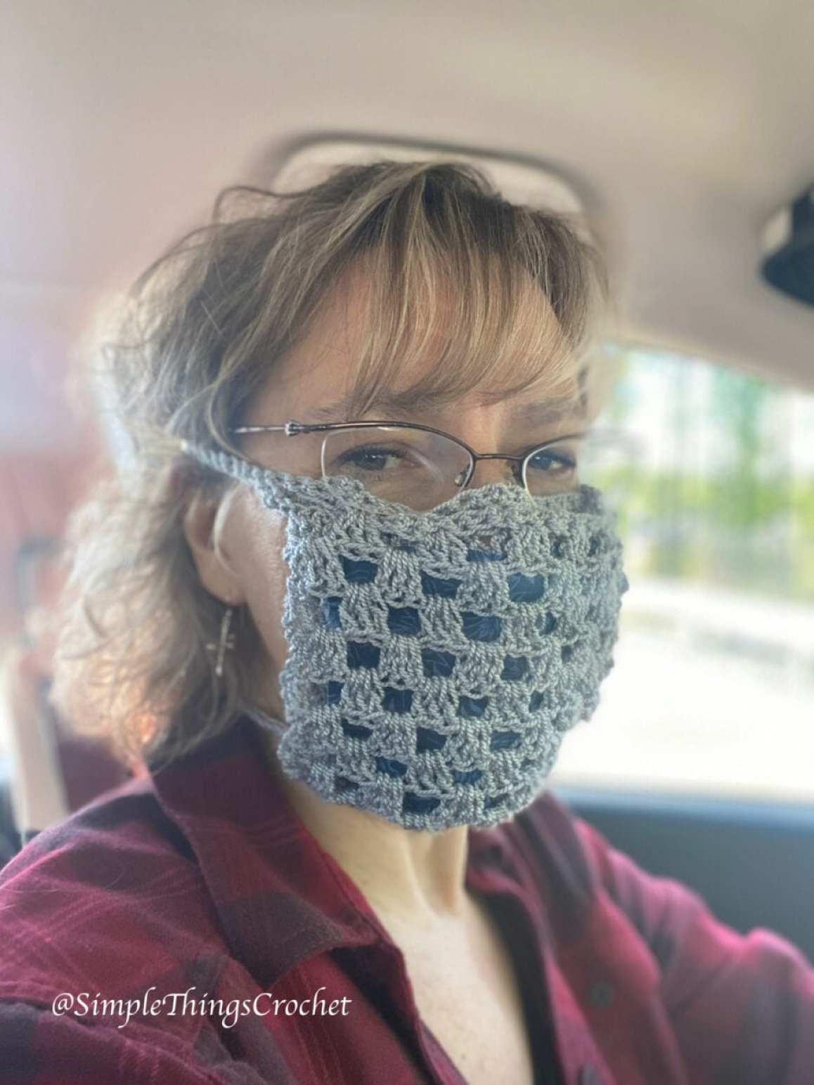 máscara de crochê adulto a6