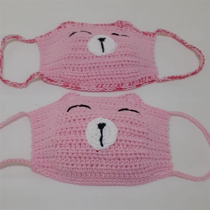 máscara de crochê infantil porquinho