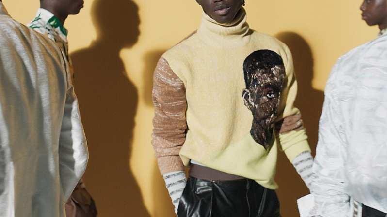 Modelos negros posam com a coleção Dior Men de verão 2021