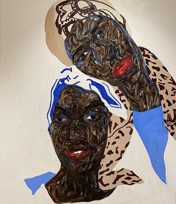 Uma das obras do pintor Amoako Boafo