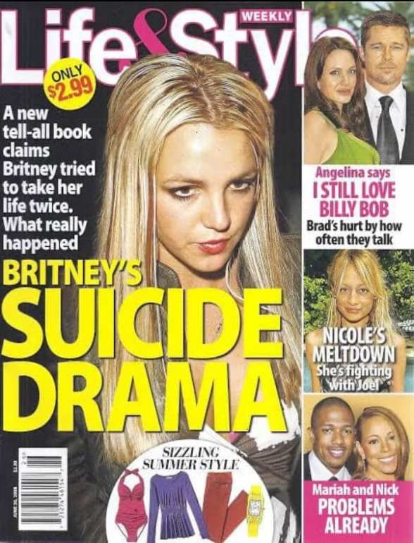 Mídia explora os dramas de Britney
