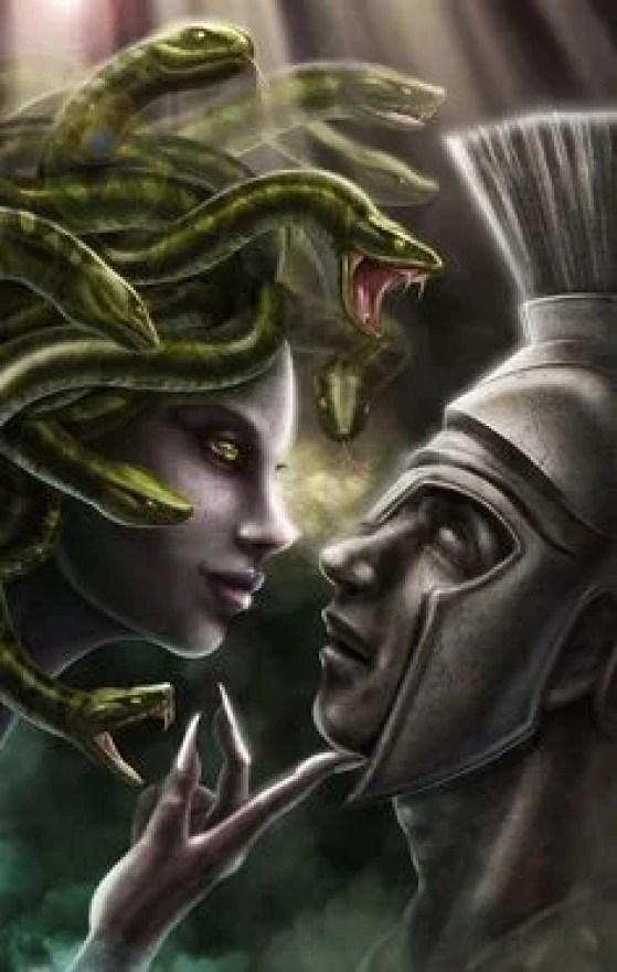 Medusa seduz cavaleiro