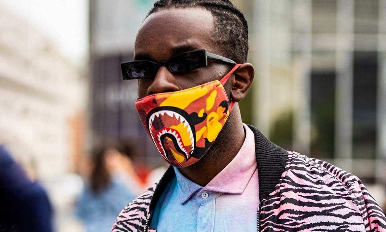 look masculino com máscara