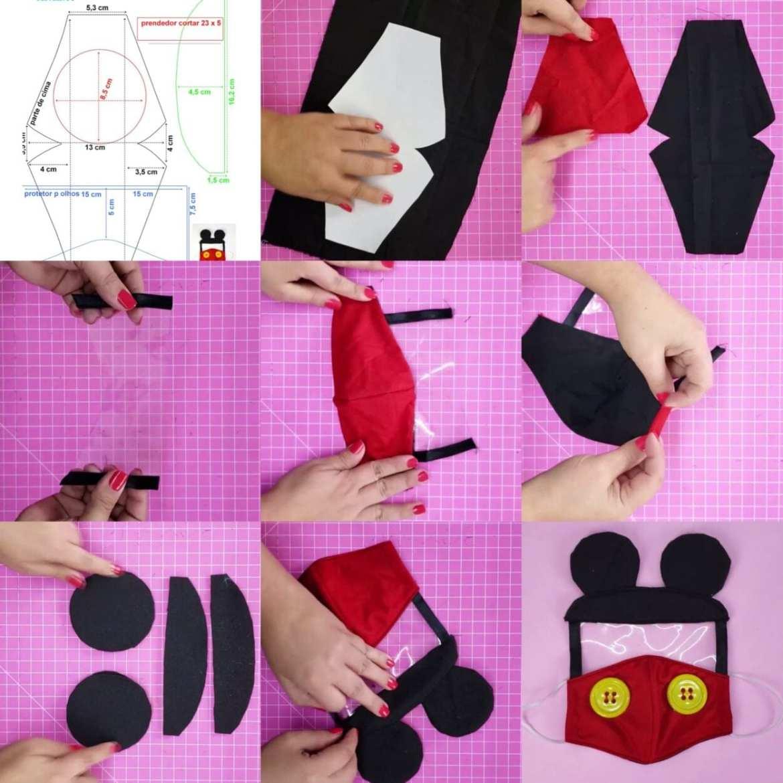 máscara para criança do mickey mouse