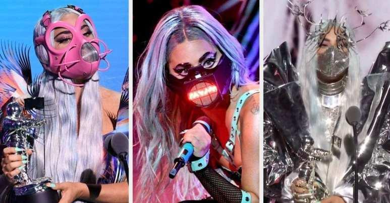 Lady Gaga usou 7 máscaras no VMA 3