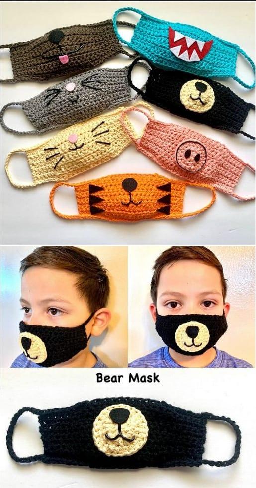 diversos modelos de máscara de bichinhos