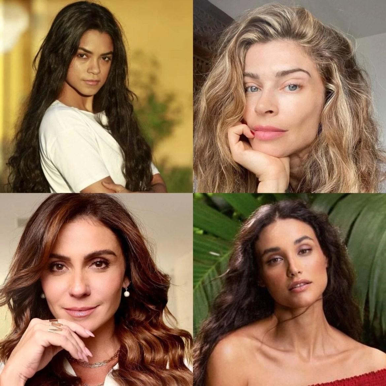 Montagem com foto das quatro primeiras atrizes