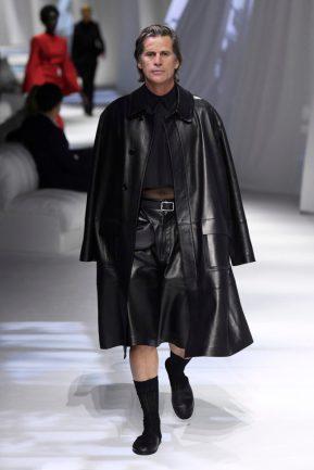casaco de couro Fendi