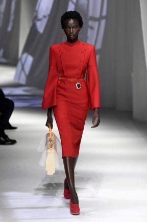vestido vermelho Fendi