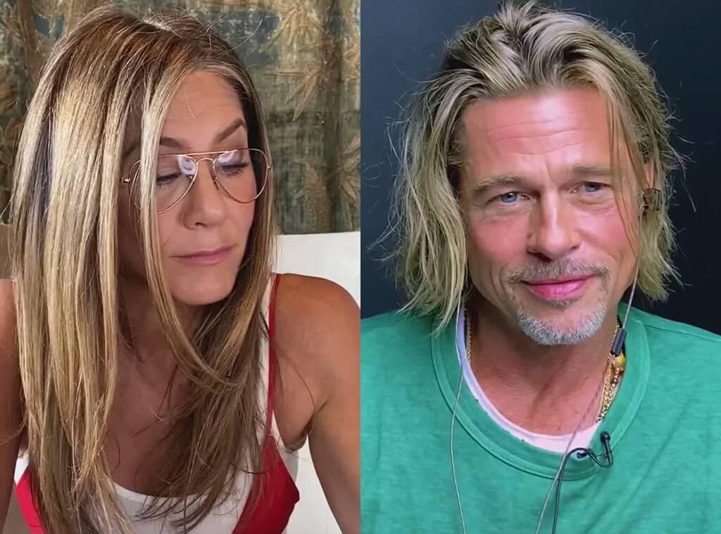 Brad Pitt e Jennifer Aniston flertam ao vivo!