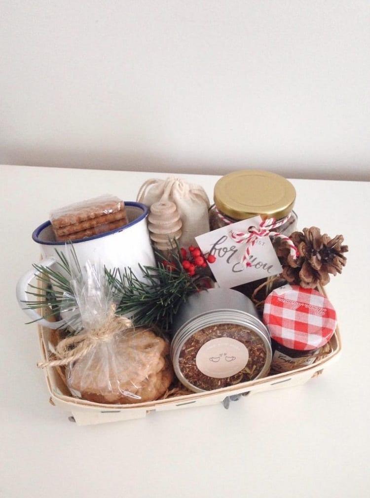 cesta de Natal para uma pessoa