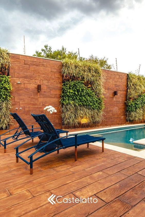 Muro com jardim vertical