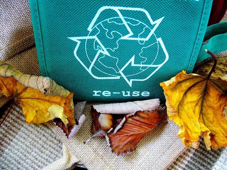 cesto para lixo reciclável, parte de uma economia circular