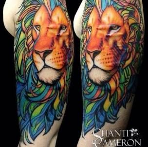 tattoo d eleão cobre cicatriz no braço