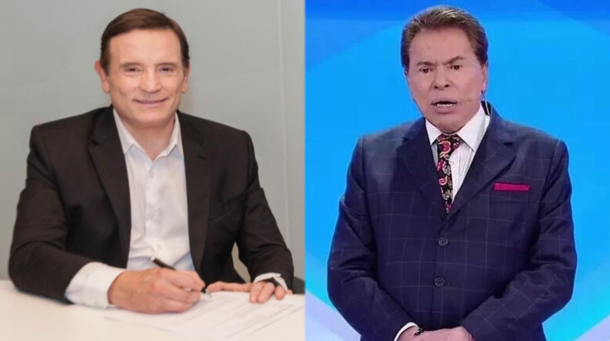 Cabrini e Silvio Santos