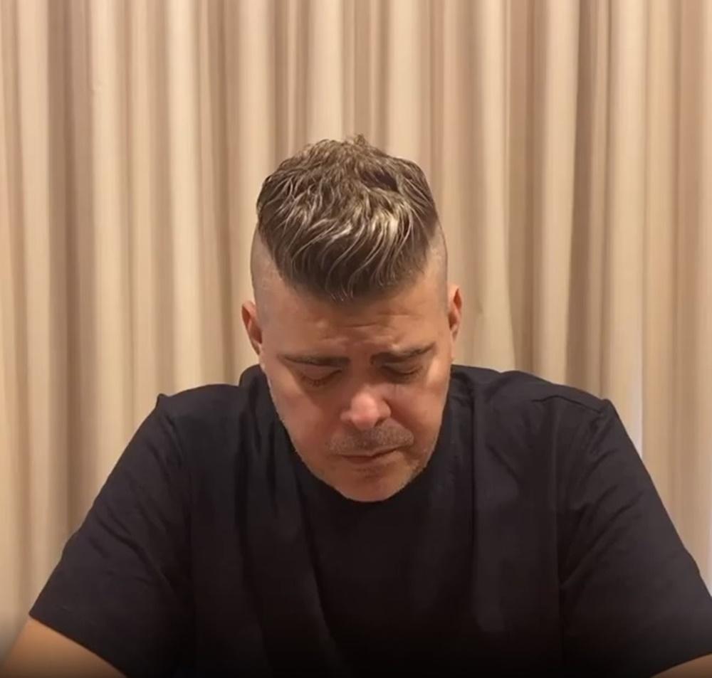 Rafael Vannuci triste em momento do vídeo
