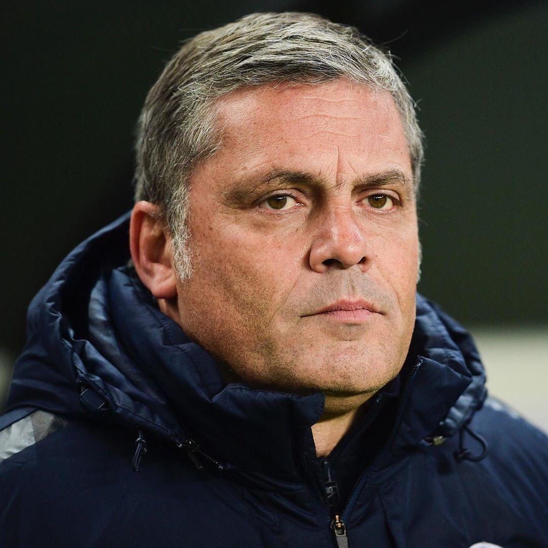 Foto do treinador de goleiros, Bruno Martini.