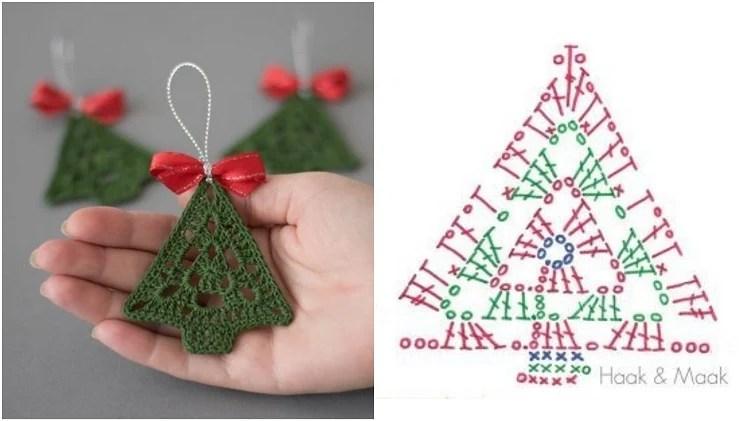 enfeites de árvore de natal com gráfico