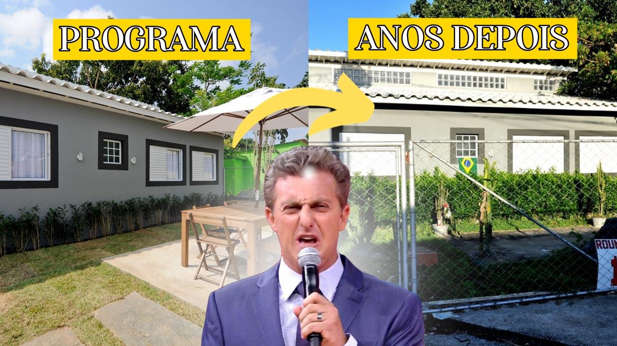 "Luciano Huck, Antes e Depois ""Lar Doce Lar""."