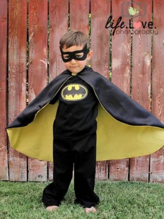 Fantasia capa do batman para halloween