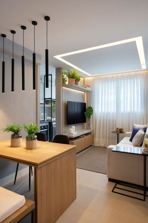 Apartamento pequeno estilo moderno.