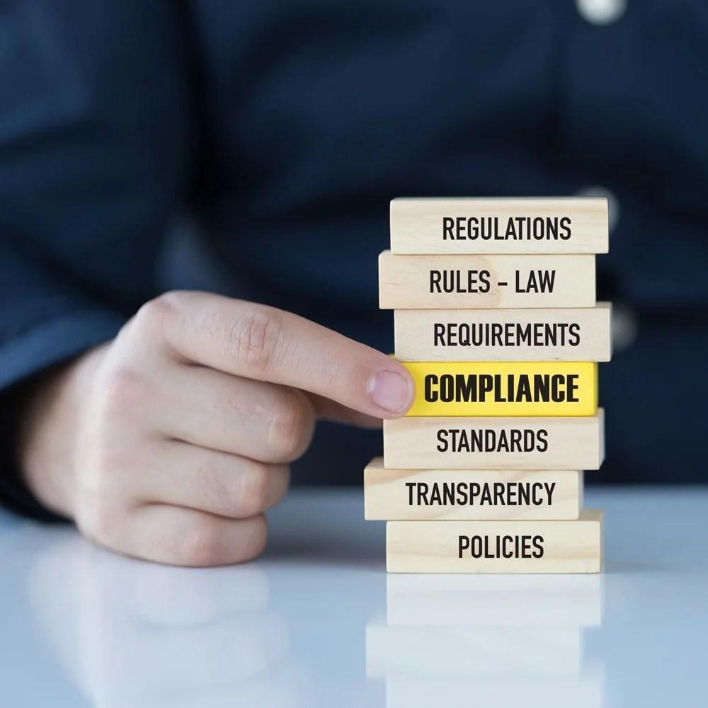 Representação da palavra Compliance.