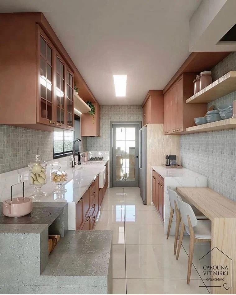 Cozinha de casa pequena