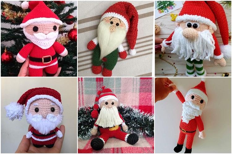 seis ideias de boneco de Papai Noel