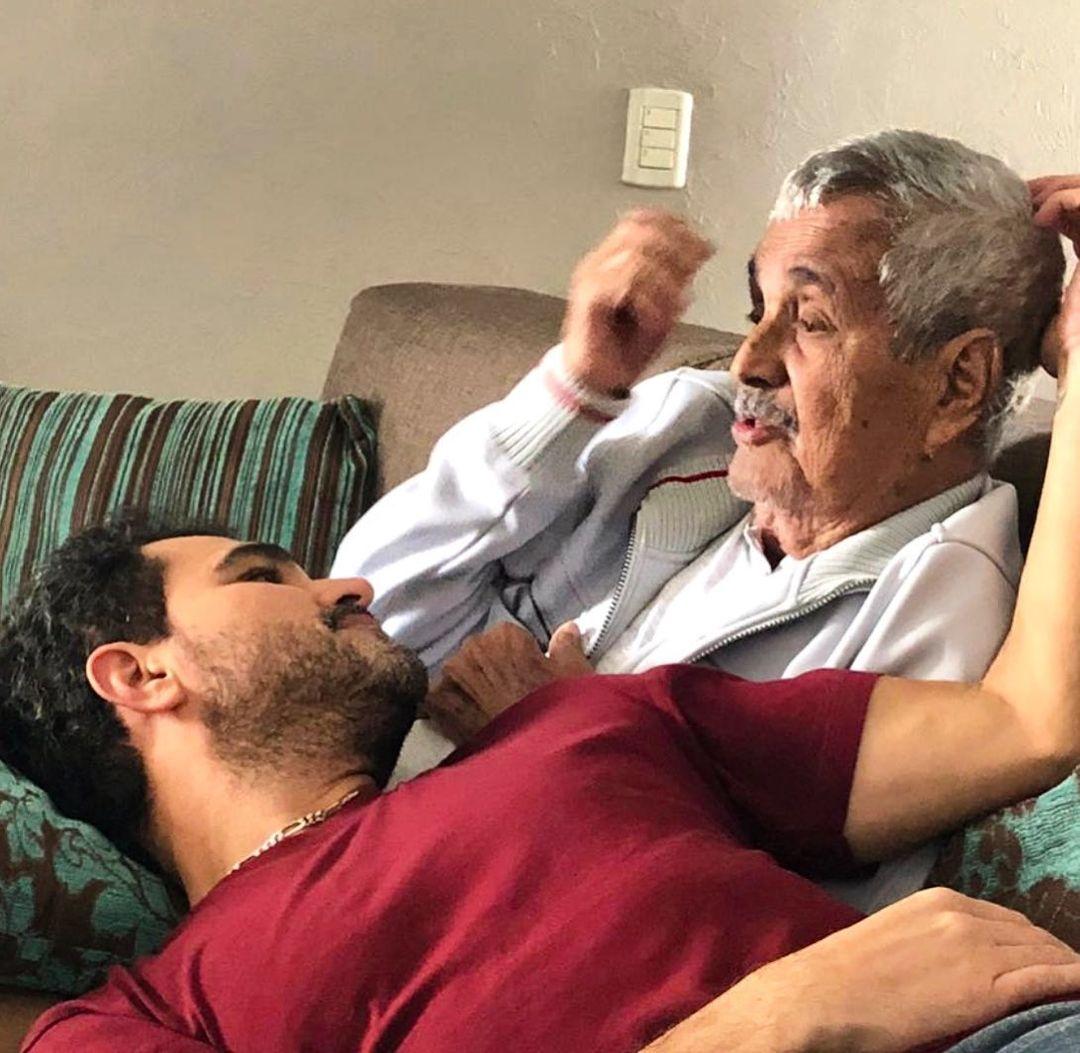 Luciano Camargo e seu pai.