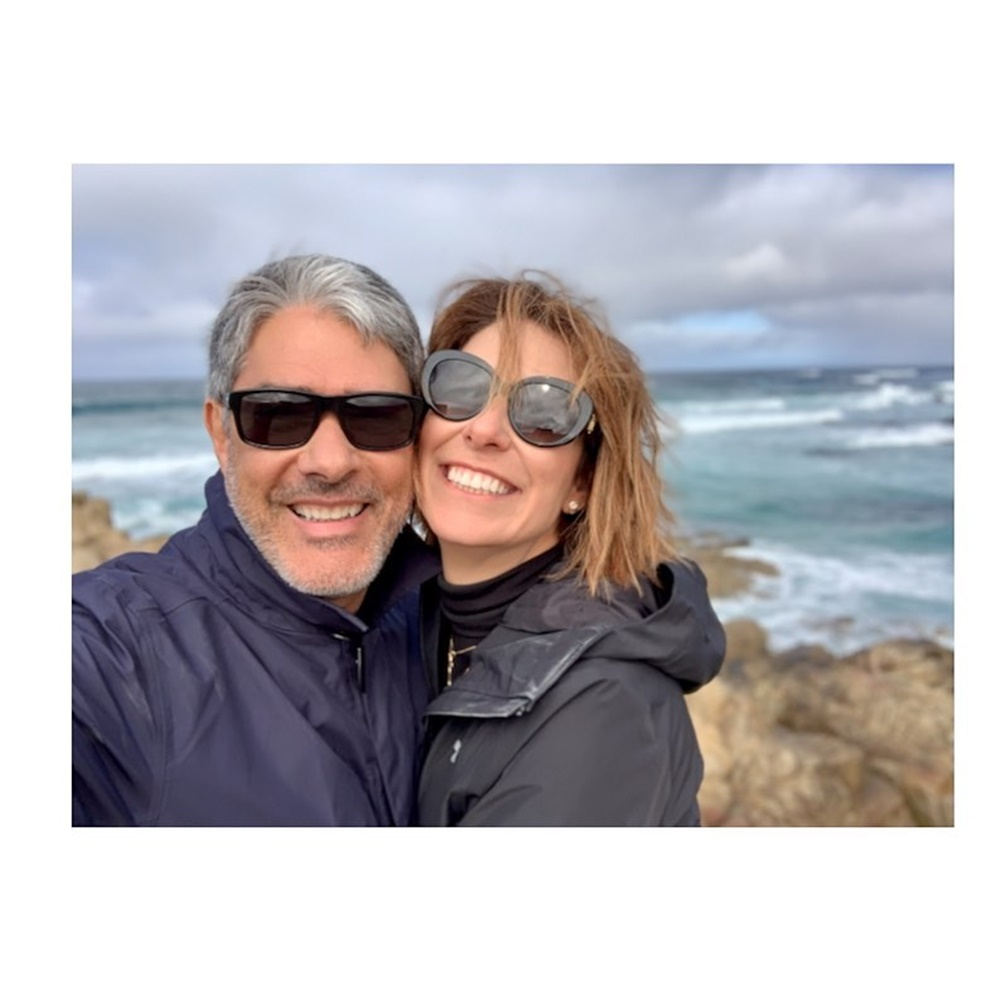 William Bonner e esposa.