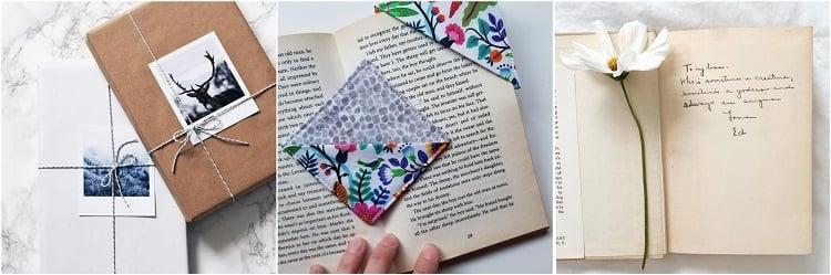 três ideias de livros para mini presentes