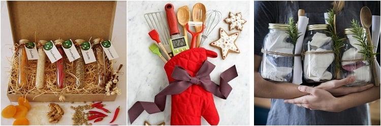três kits de presente para cozinha