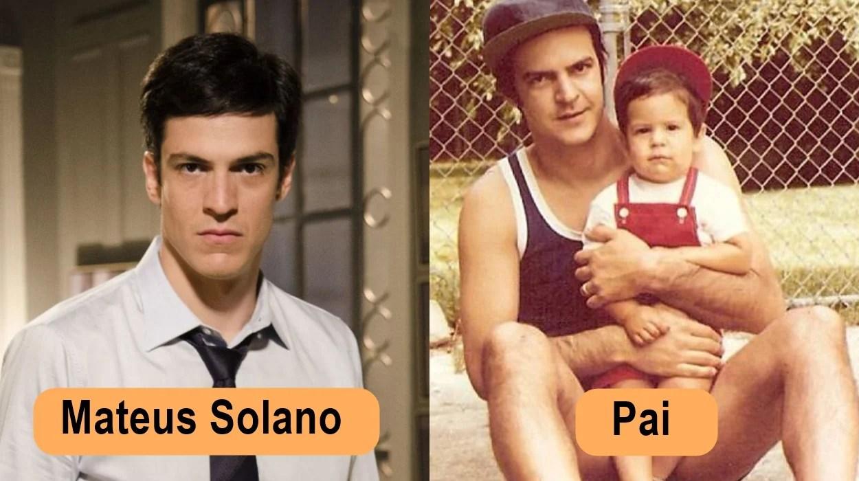 Mateus Solano e seu pai.