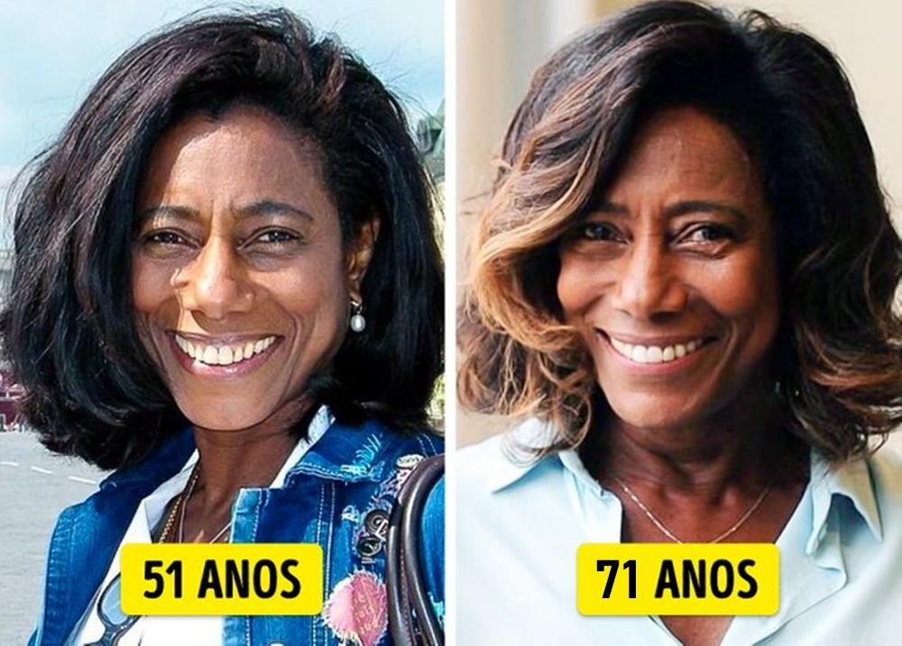 Gloria Maria mais nova e mais velha.