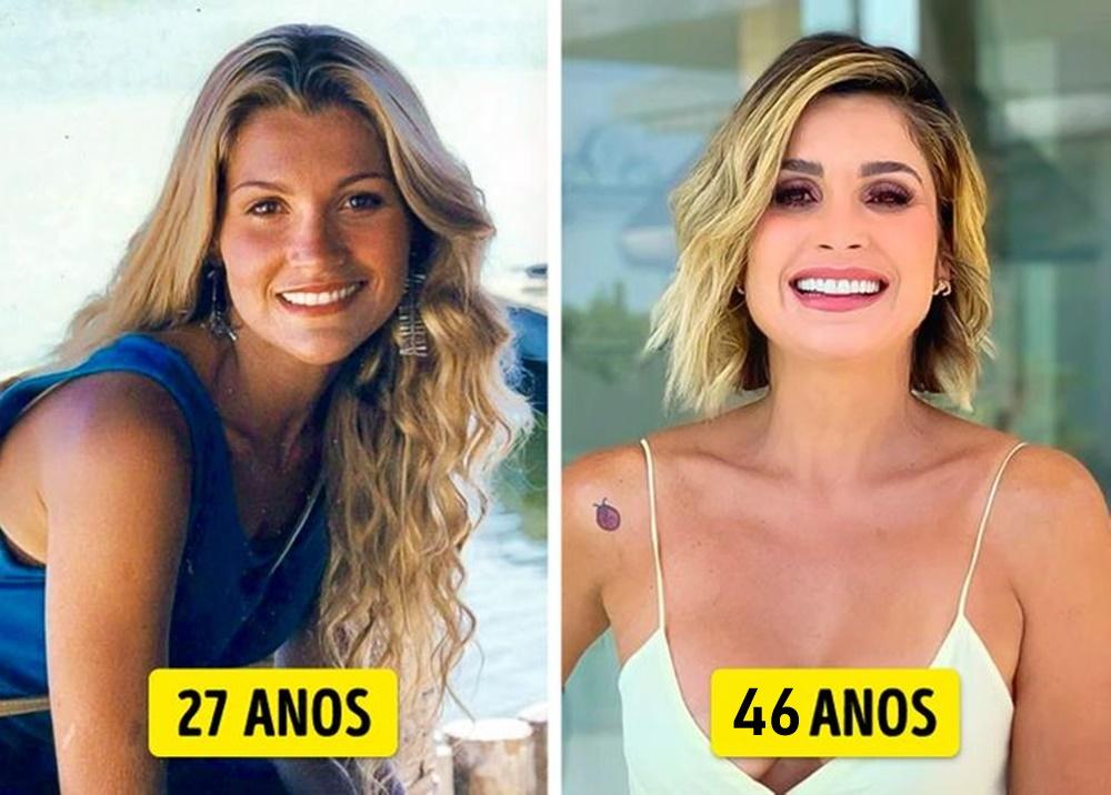 Flávia Alessandra mais nova e mais velha.