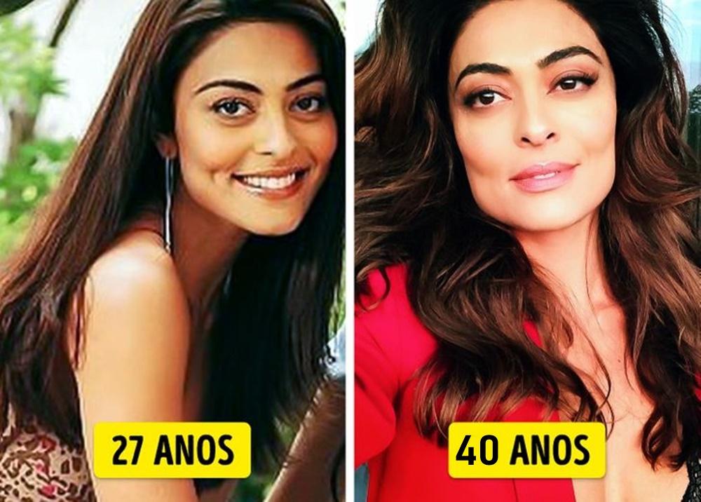 Juliana Paes mais nova e mais velha.